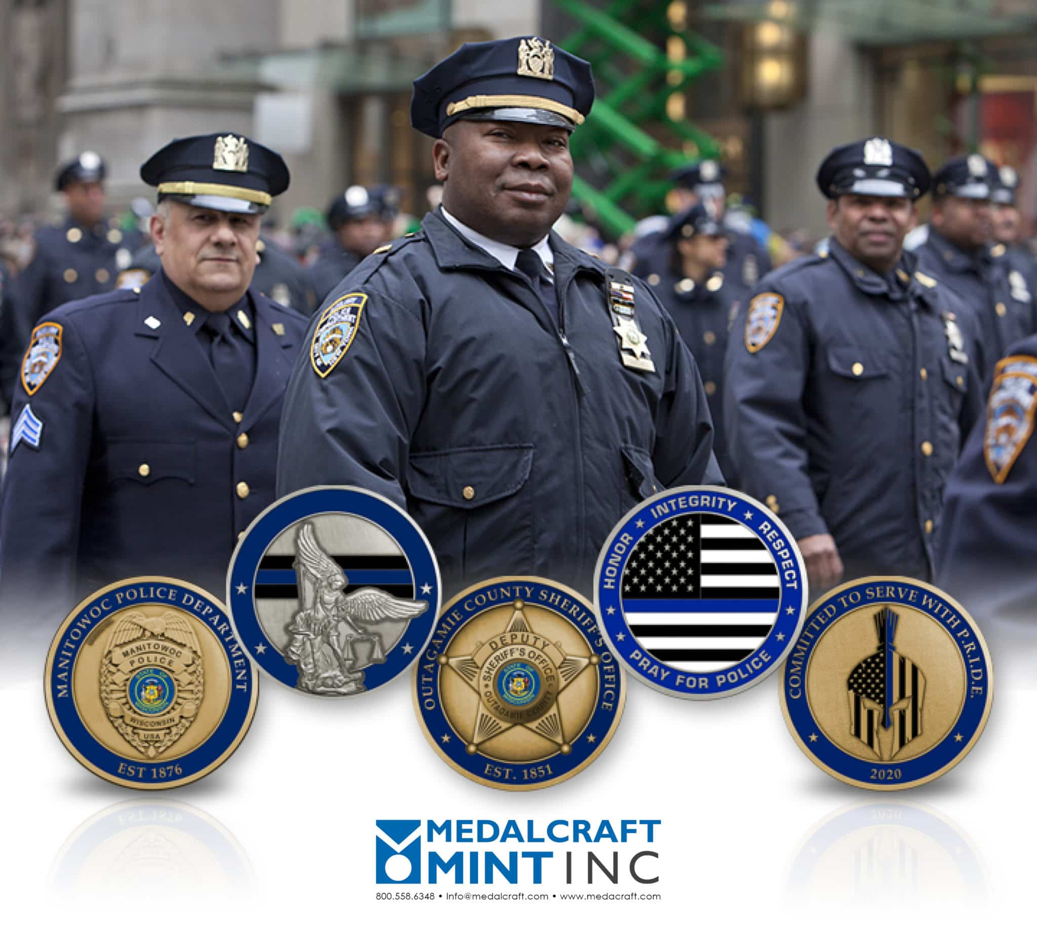 Make your law enforcement medals shine with custom die engraving