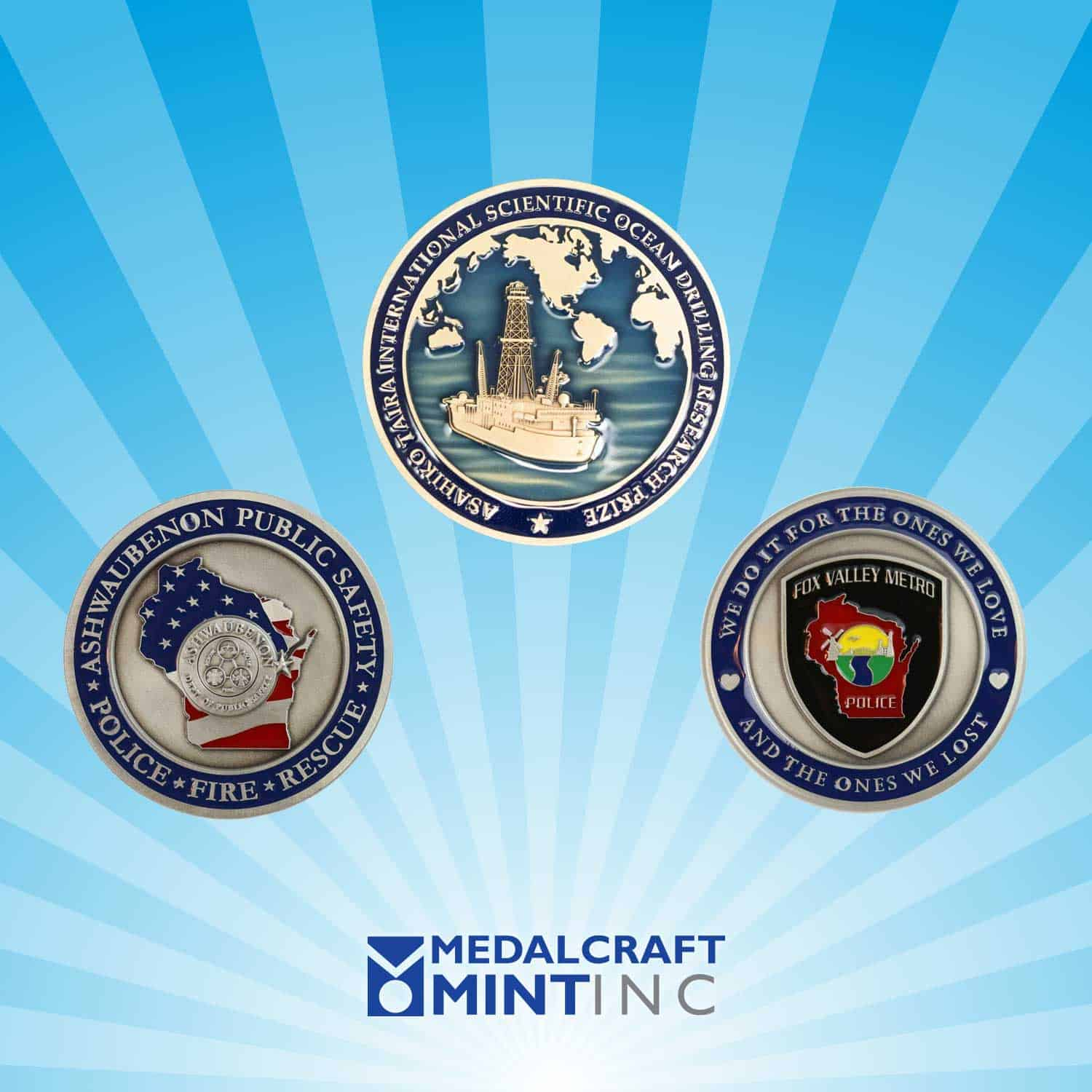 Enamel challenge coins are popular law enforcement medals
