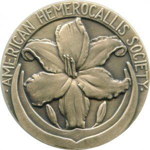 Floral Antiqued Bronze Medal