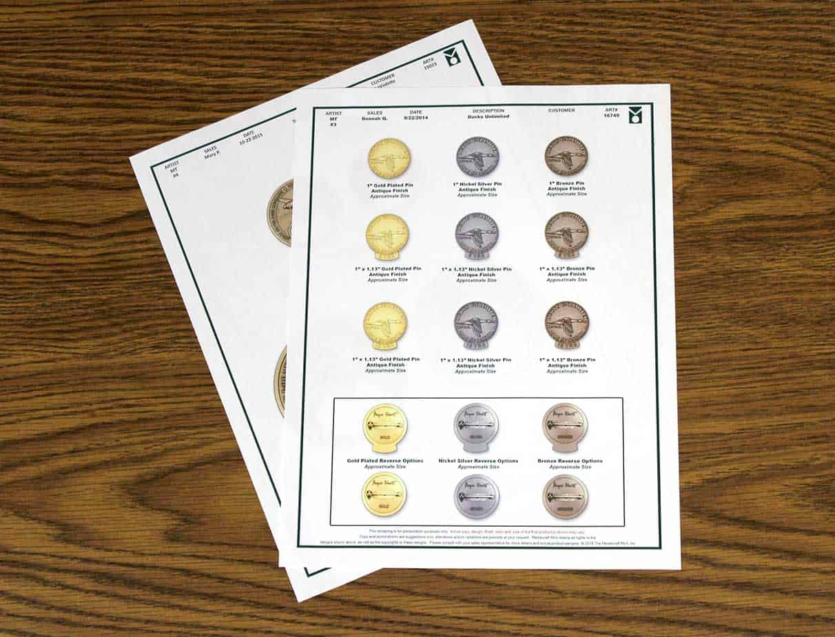 Medalcraft Mint Minting Process Proof Sheets