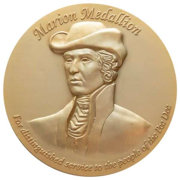 Large 3D Bronze Medallion 5 inch diameter