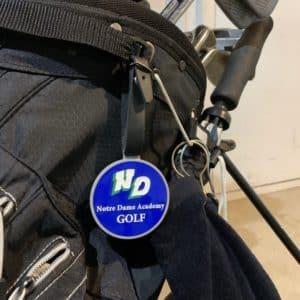 Notre Dame Academy Golf Bag Tag