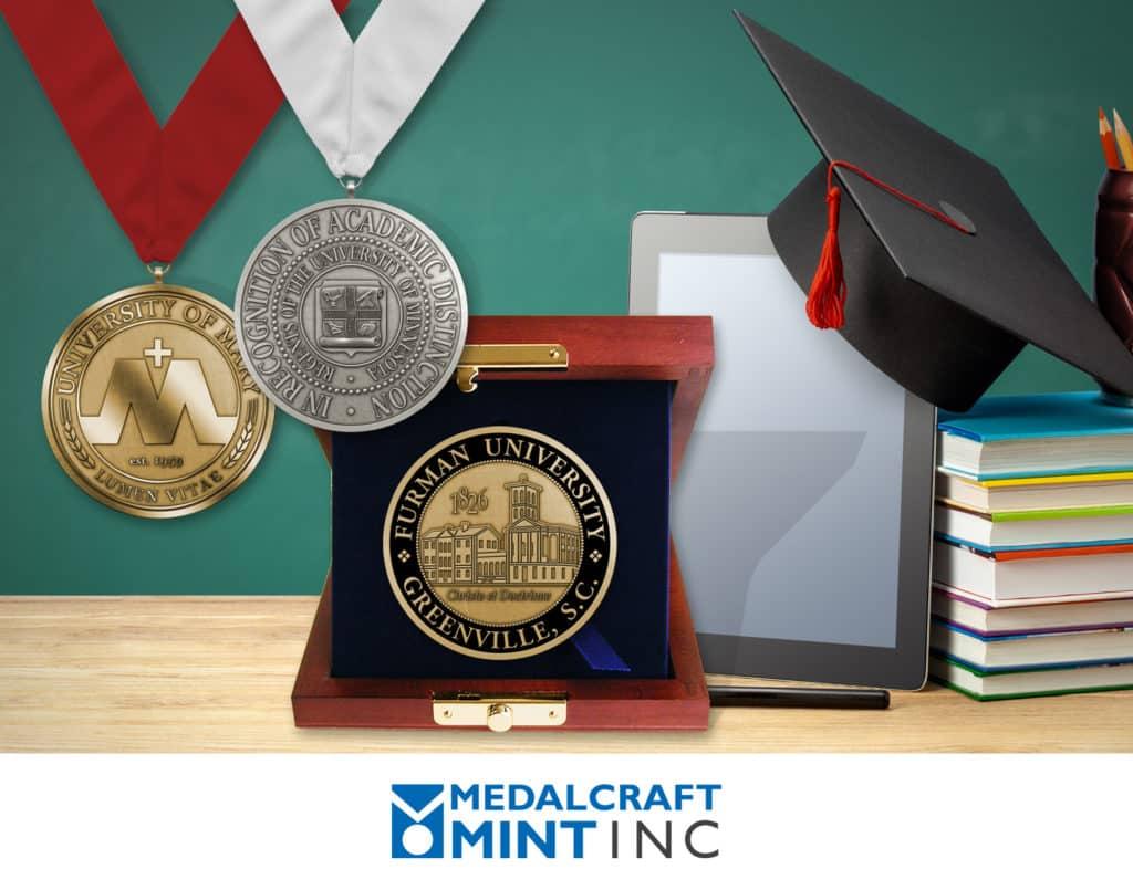 Metalcraft Mint graduation medals / alumni medals