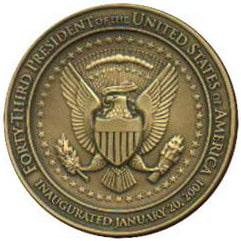 2001 Bush Medallion Back