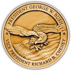 2005 Bush/Cheney Medallion Back