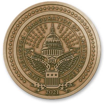 2021 Biden Medallion Back