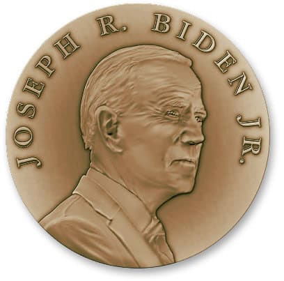 2021 Biden Medallion Front