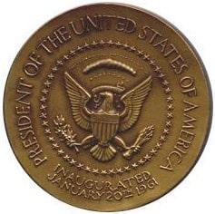 1961 Kennedy Medallion Back