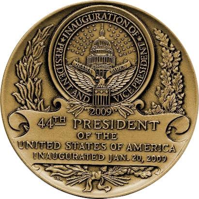 2009 Obama Medallion Back