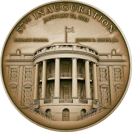 2013 Obama Medallion Back