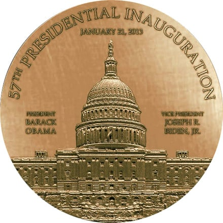 2013 Obama Capital Medallion Back