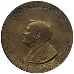 1937 FD Roosevelt/Garner Medallion Back