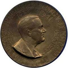 1937 FD Roosevelt/Garner Medallion Front