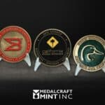 Enamel coins, custom large-diameter medallions pop with color