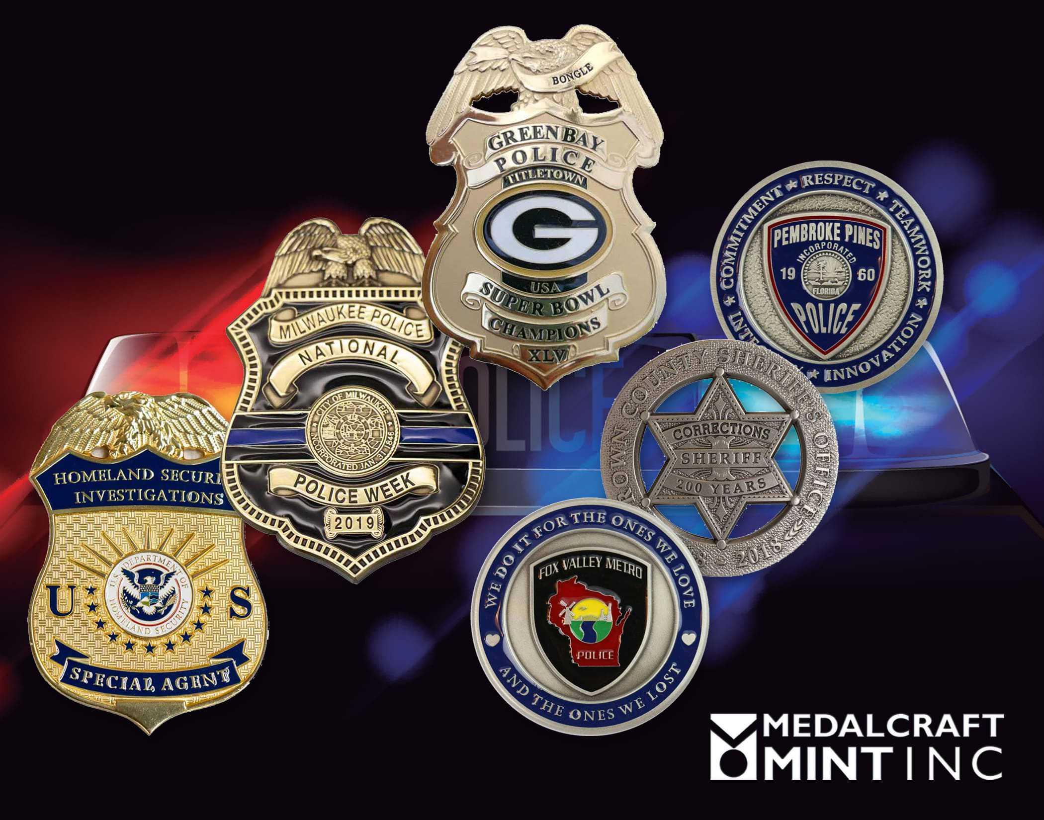 Medalcraft Mint custom police badges
