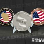 Custom coins deliver pride when they are Made in the USA