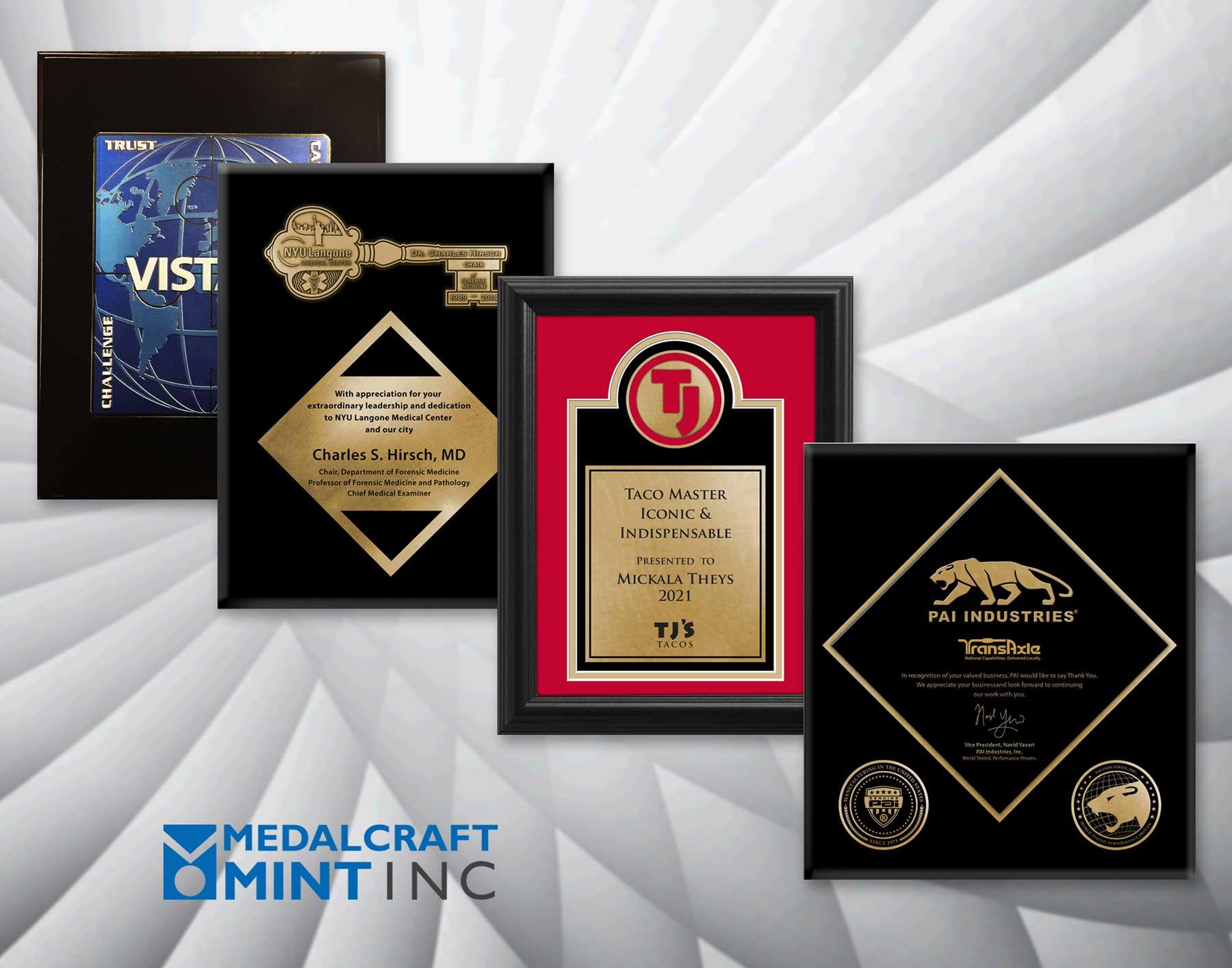 Medalcraft Mint award medallion plaques