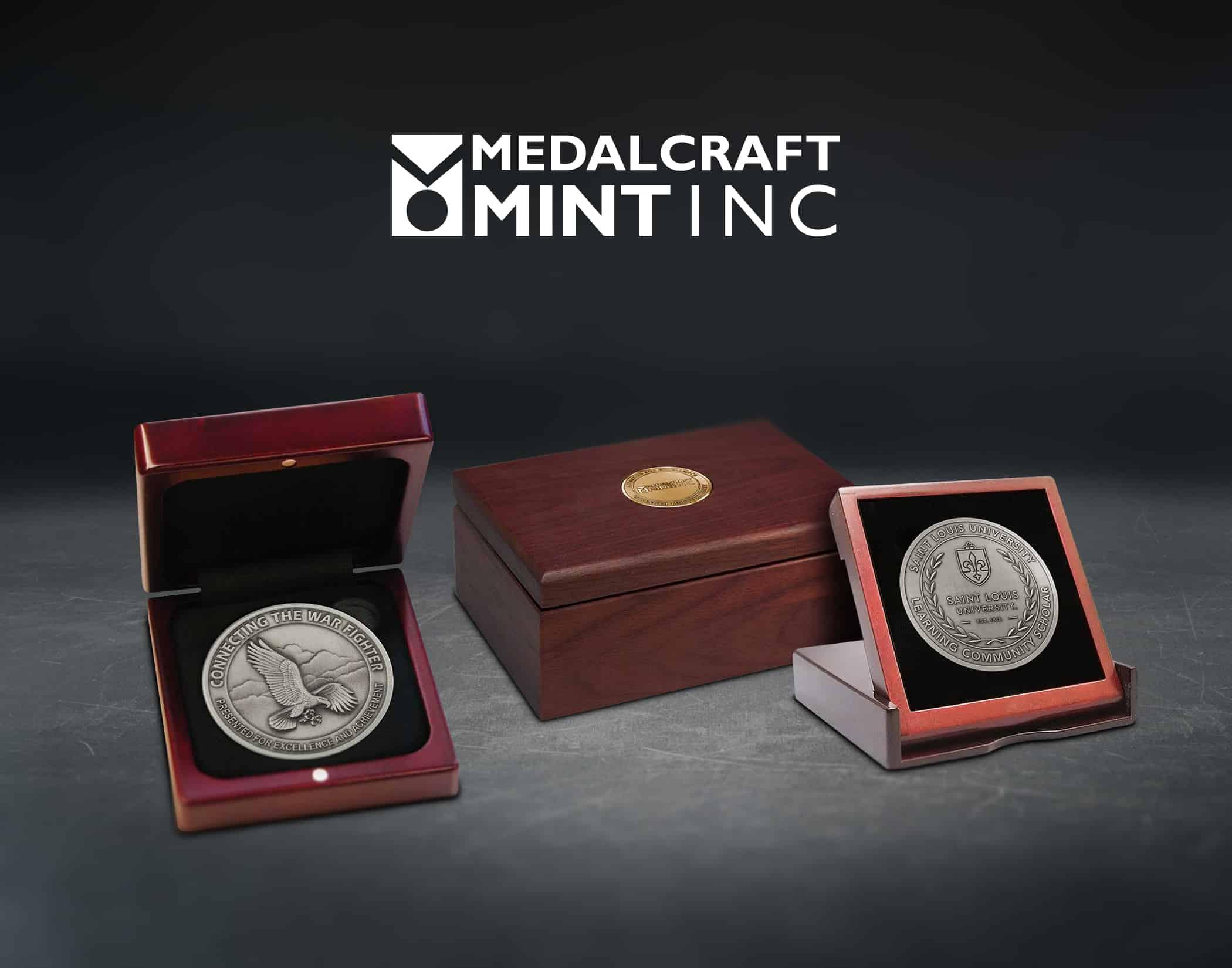Medalcraft Mint wooden box medals