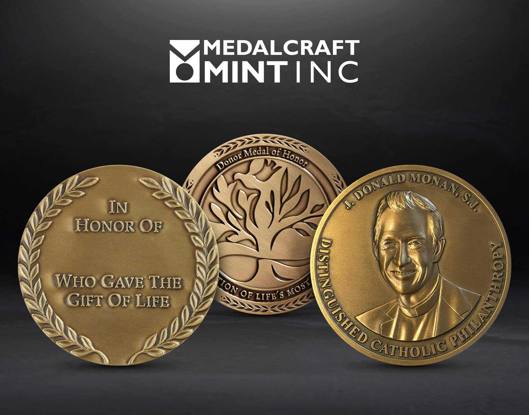 Medalcraft Mint donor network medals