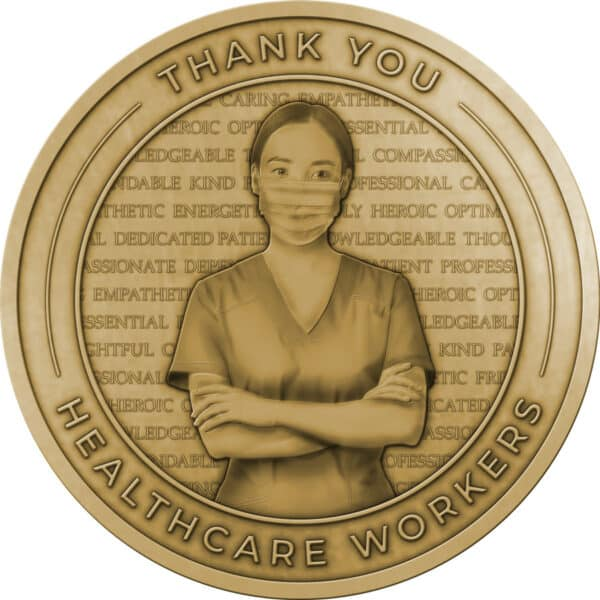 Thank You Healthcare Workers Challenge Coins – Without Enamel