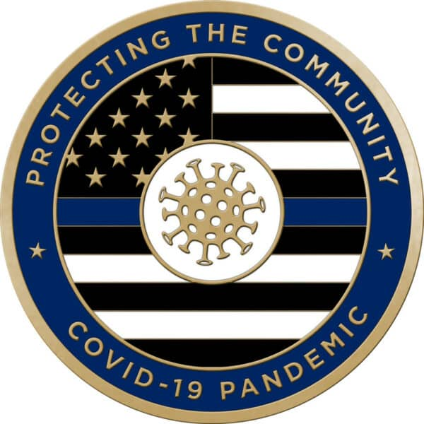 Protecting the Community Challenge Coins – With Enamel –Police