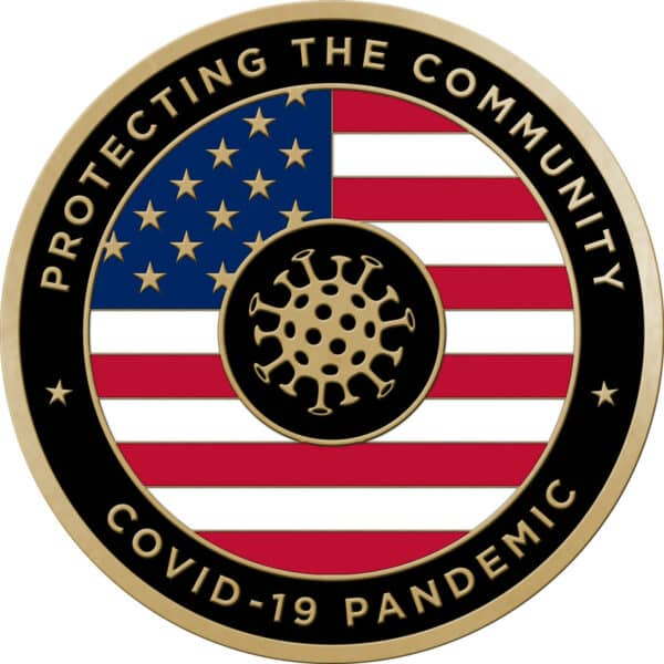 Protecting the Community Challenge Coins – With Enamel –USA