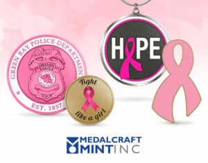 Medalcraft Mint breast cancer awareness medals